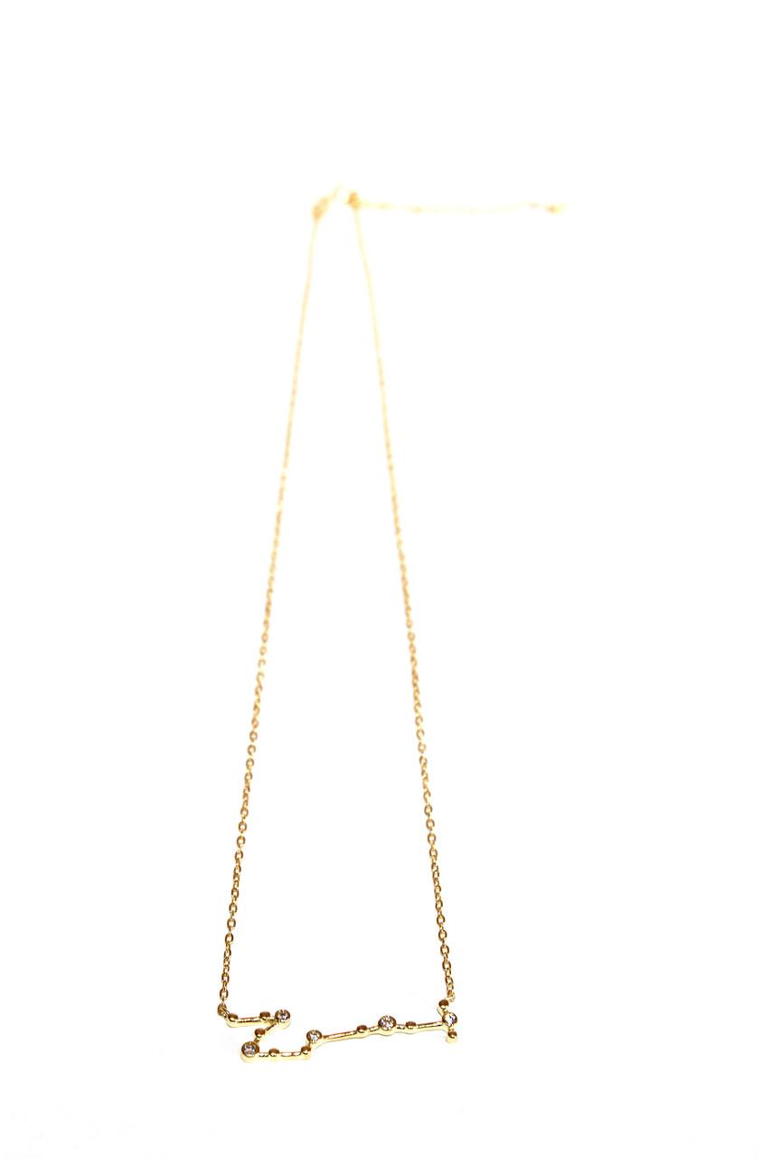 Серебряная подвеска Созвездие (Скорпион) Золочение, Brosh Jewellery (Серебро 925)