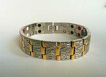 Магнитный браслет N 2 - Вставка 4/1 :магнит,германий,инфракрасные лучи,отрицательные ионы.