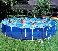 Каркасный бассейн Intex Metal Frame Pool 28236, 457 х 122 см + насос-фильтр, аксессуары