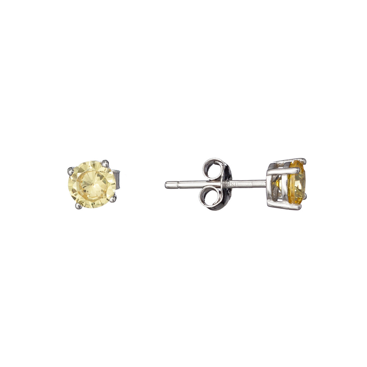 Серебряные Серьги-пусеты Brosh Jewellery. Серебро 925 пробы