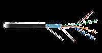 Кабель NETLAN F/UTP 4 пары, Кат.5e (Класс D), 100МГц, одножильный, BC (чистая медь), внешний, PE до -40C, черн