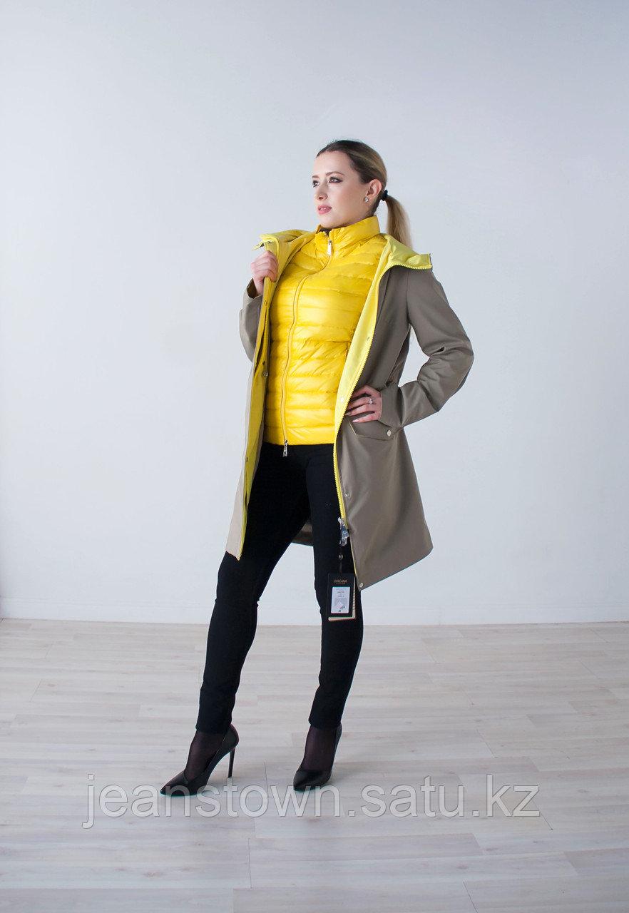 Куртка женская демисезонная  Evacana бежевая с жилетом