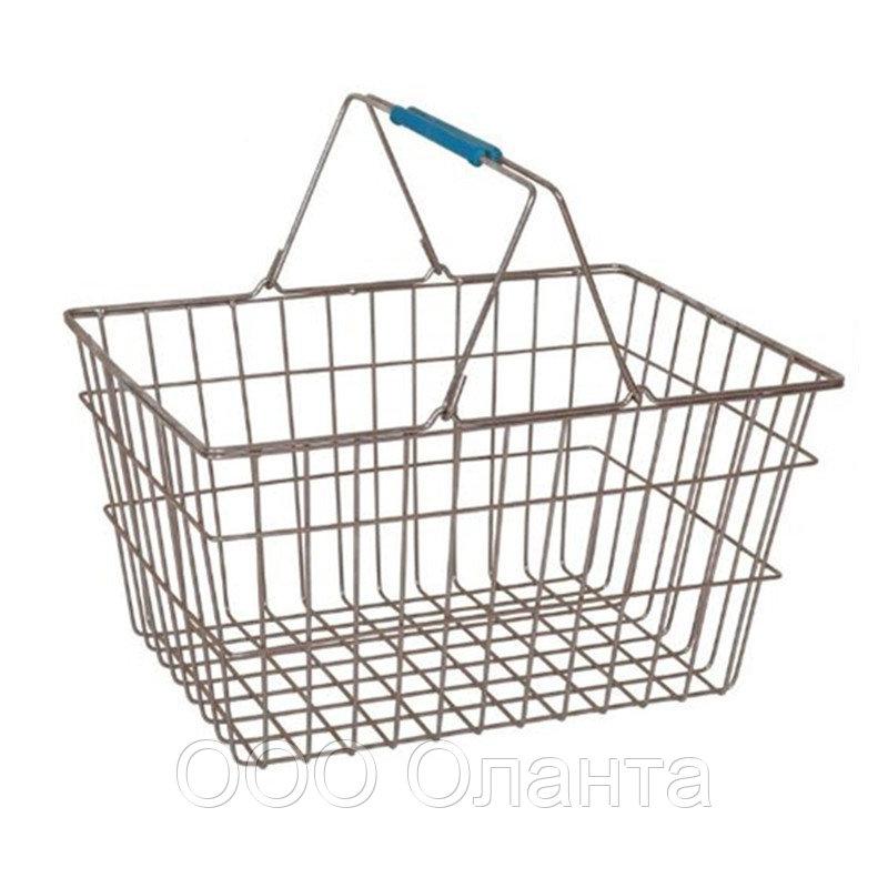 Корзина покупательская для магазина самообслуживания цинк 20 литров арт. KP20-ZNK