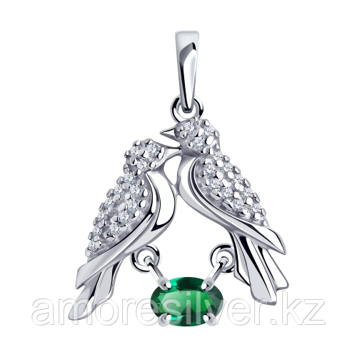Подвеска из серебра с фианитом Diamant  Диамант 94-130-00539-1