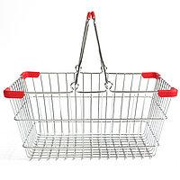 Корзина покупательская для магазина самообслуживания хром 10 литров арт. KP10-CRK
