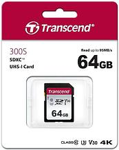 Transcend TS64GSDC300S Карта памяти SD 64GB Class 10 U3