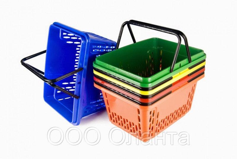 Корзина покупательская для магазина самообслуживания пластик 20 литров арт. KPP20-I