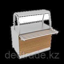 Нейтральный стол с декоративным оформлением из нержавеющей стали