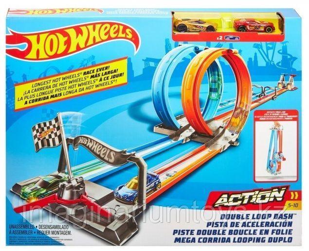 Автотрек Hot Wheels Action Хот Вилс «Двойная петля»