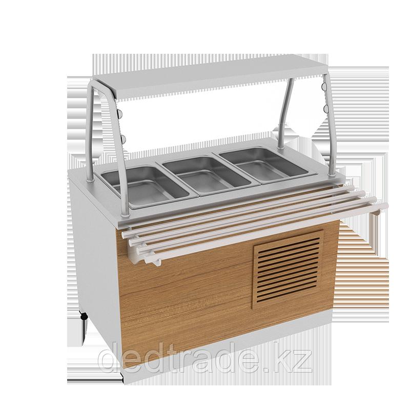 Мармит для холодных блюд  с декоративным оформлением из нержавеющей стали