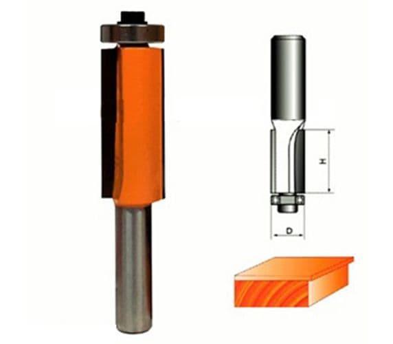 Фреза прямая кромочная с подшипником  Глобус D=6,l=18,d=6mm арт.1020 6х18 d6
