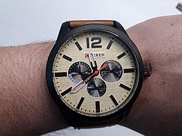 Мужские часы Curren. Модель 8247. Кварцевые. Наручные. Kaspi RED. Рассрочка.