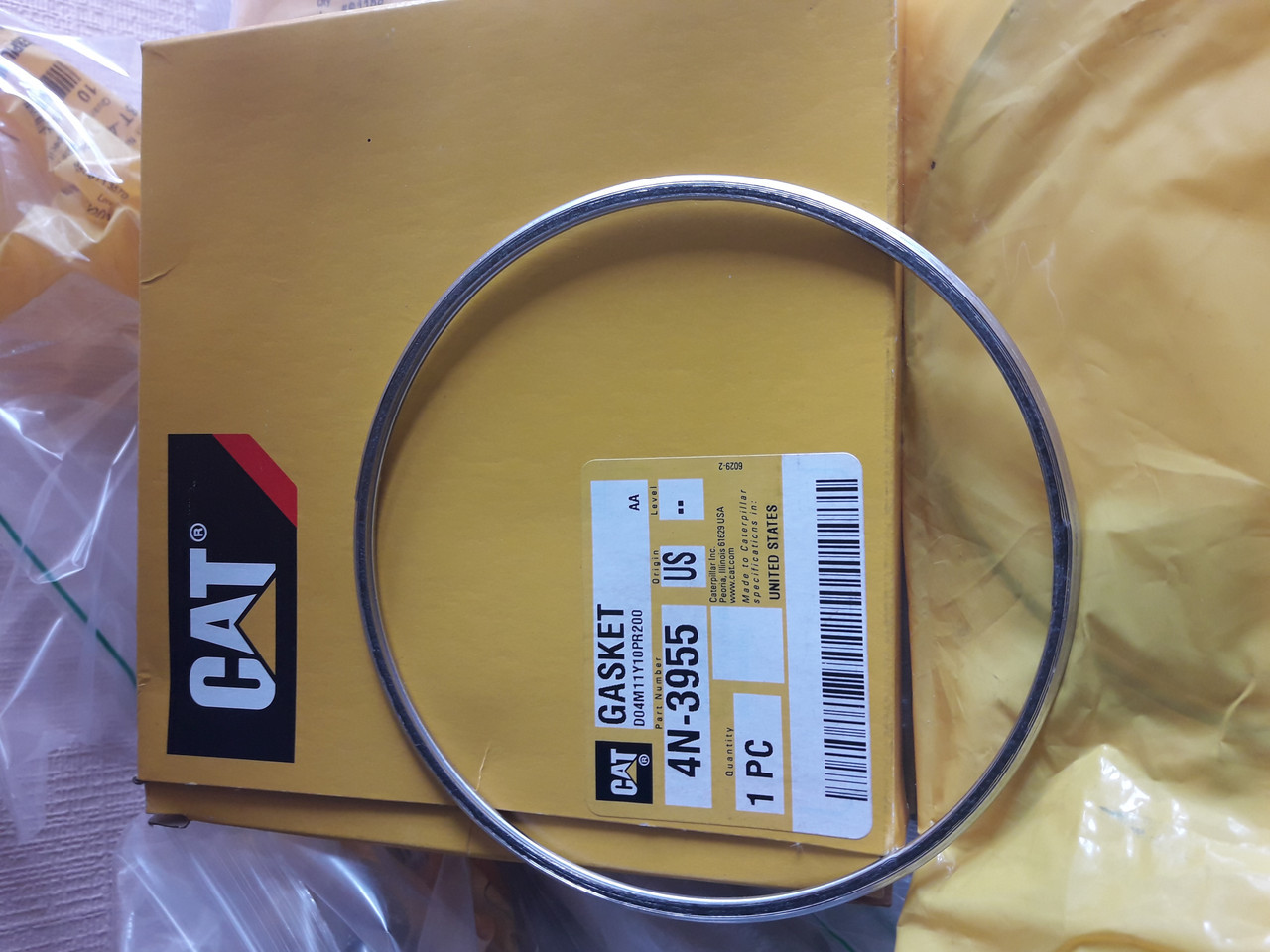 4N-3955 Gasket Прокладки AIR INLET AND EXHAUST SYSTEM