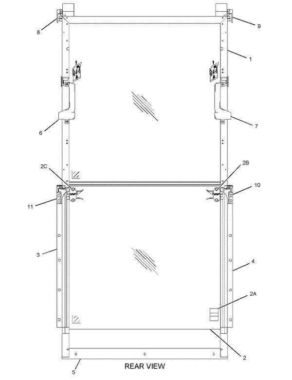 138-8278 Рамка верхняя переднего окна кабины Caterpillar® Upper Front Window Frame