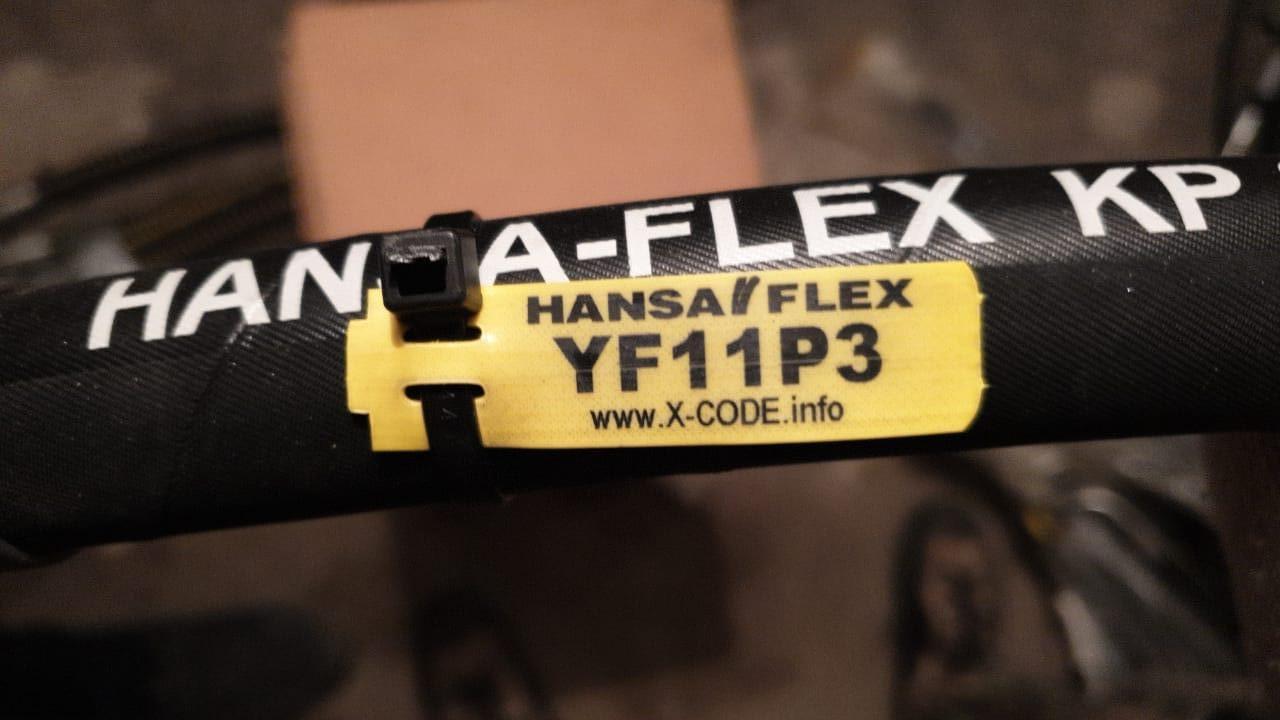 YF11P3 Рукав РВД 20-210атм-600мм (М30х1,5) (0°/90°) (ключ 36).
