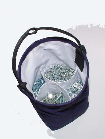 Synthetic bucket for bolt and nuts 55 lbs | Сумка-ведро монтажника для болтов СВБ25