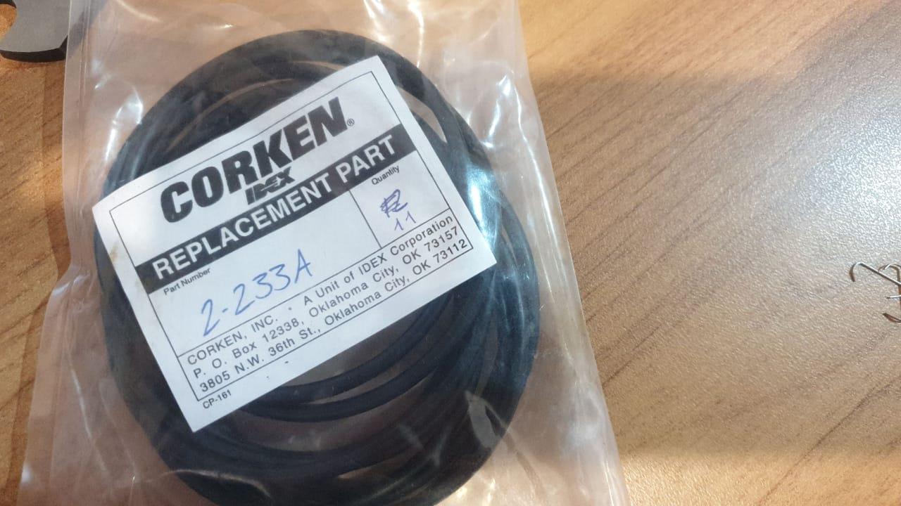 2-233A Кольцевое уплотнение (картридж набивки) O-ring, Buna-N Компрессор 691M Corken