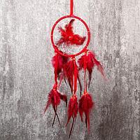 """Ловец снов """"Цветок из перьев"""" d=13 см МИКС 40см"""