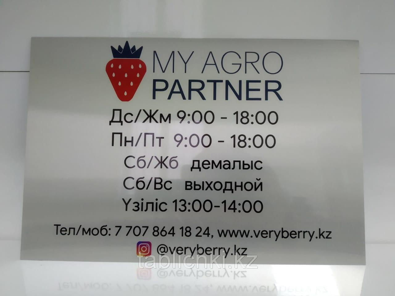 Таблички на двери, офисные таблички