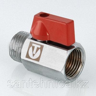 Кран шаровой латунь Ду 15 Ру10 наруж./внутр. резьба рычаг никель Valtec MINI VT.331.N.04, фото 2