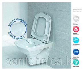 Инсталляция в комплекте CARINA NEW CLEAN ON (подв.с slim DP lift+инст.LINK PRO с кн. BLICK хром.мат) Cersanit, фото 2