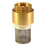 """Обратный клапан Ду 15 (1/2"""") шток пластик с сеткой Китай"""
