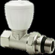 """Клапан радиаторный латунь прямой Ду 20 (3/4"""") наруж./внутр. HLV никель"""