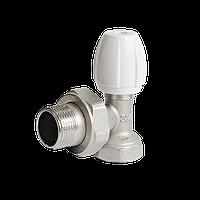 """Клапан радиаторный латунь угловой Ду 20 (3/4"""") наруж./внутр. Ogint никель"""
