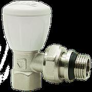 """Клапан радиаторный латунь угловой Ду 20 (3/4"""") наруж./внутр. HLV никель"""