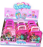 Небольшие царапины!!! JX-2040-1 Кукла в чемодане (дерево и садовые инструменты) из 12шт, цена за 1шт 16*12см
