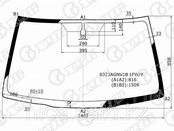 Стекло лобовое без полосы в клей TOYOTA RAV4 #A2# 3/5D 03-05