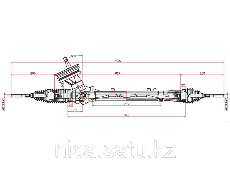 Рейка рулевая NISSAN TIIDA 07- LHD