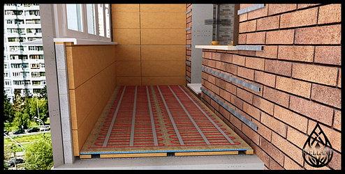 Как утеплить балкон или лоджию. Электрический теплый пол на балконе или лоджи.
