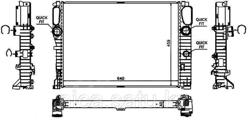 Радиатор MERCEDES W211/W219  02-