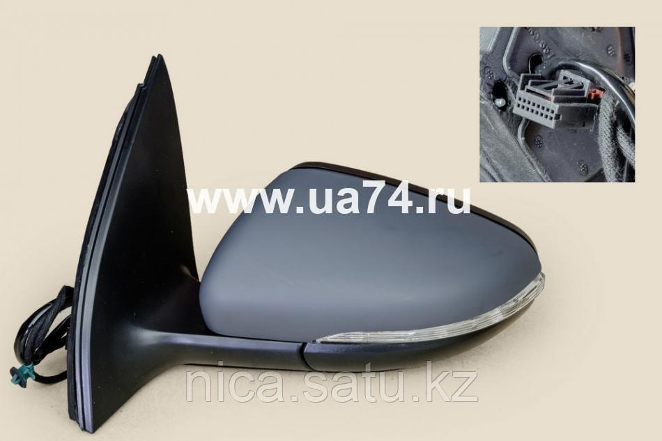 Зеркало VW TIGUAN 07-16 LH обогрев, поворот, склад., подсветка 9конт.