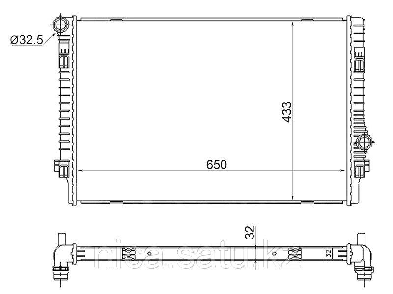 Радиатор AUDI A3/S3 12-/TT 14-/SKODA OCTAVIA 13-/VOLKSWAGEN GOLF 12-