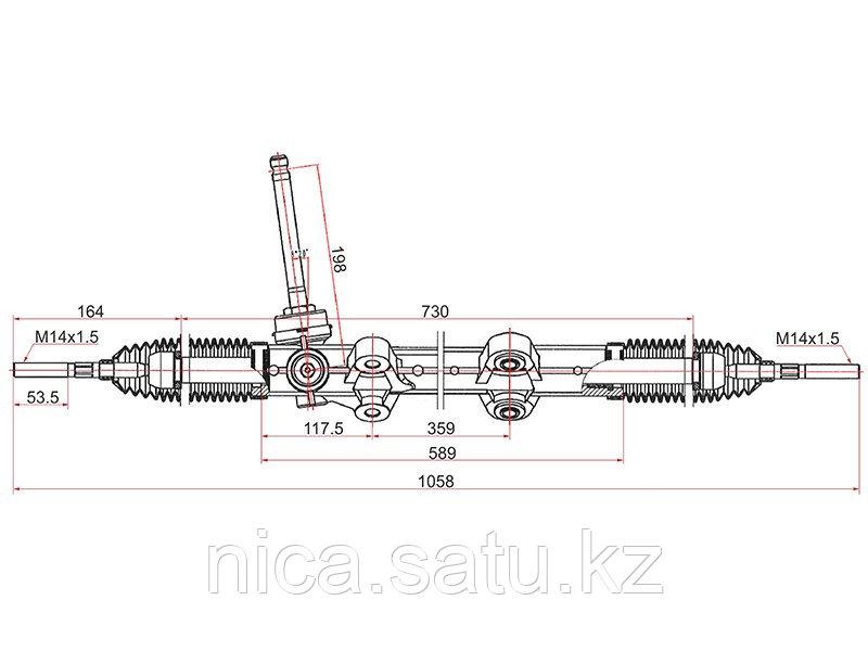 Рейка рулевая HYUNDAI I30 07-12/KIA CEED 06-