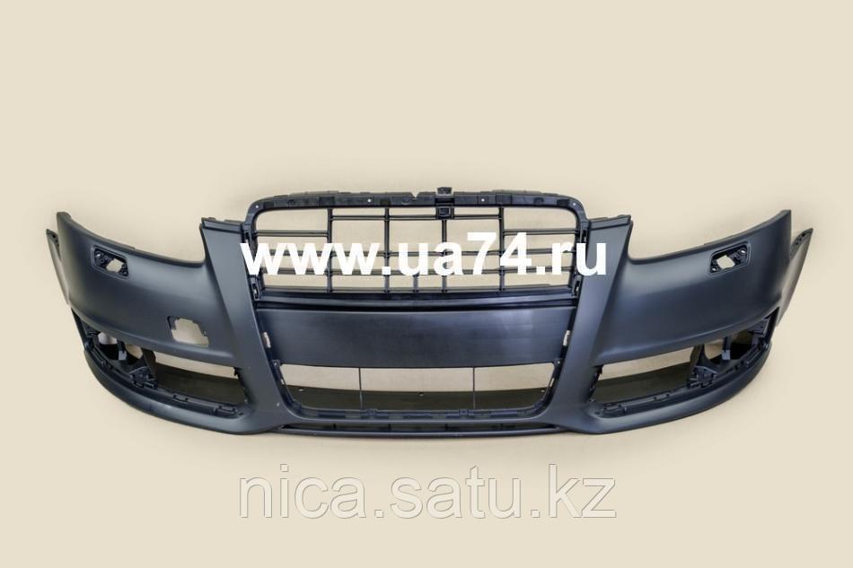 Бампер передний AUDI A6 08-11 под омыватели