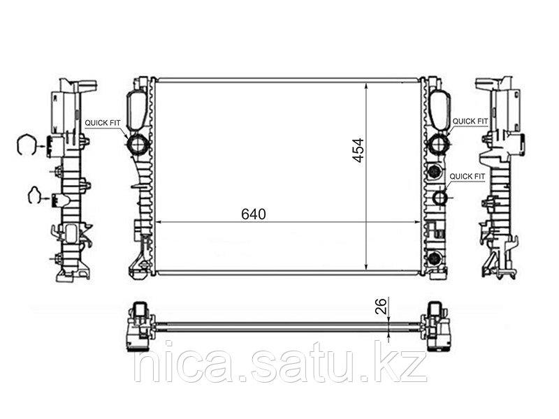 Радиатор MERCEDES E-CLASS W211 2.0/2.0D/2.2D/2.3/2.4/2.8/3.0/3.2/3.5 02-10/CLS-CLASS W219 2.8/3.5 04