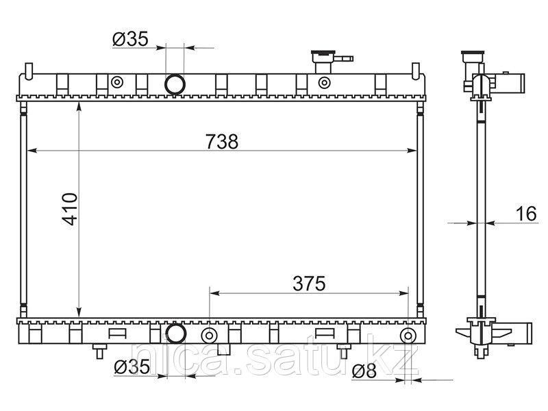 Радиатор NISSAN X-TRAIL T32 14- MR20DD/QR25DE