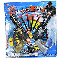 BJ178 Револьвер 2 шт и аксессуры Shooting Game 31*29см
