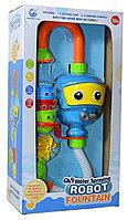 Немного помятая!!! 9908 Игрушка для ванны с насосом Water spraying robot  43*23см, фото 1