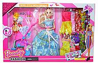 1994 Beauty Fashion Кукла с ребенком и коляской 10 платьев 50*33см