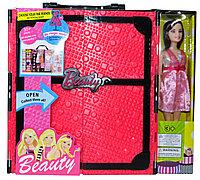 YS1801 B-Beauty Кукла с гардеробом (шифоньер) 36*32см