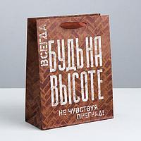 Пакет крафтовый вертикальный «Не чувствуй преград!», L 31 × 40 × 9 см