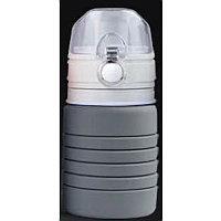 Бутылка для воды складная с карабином SPRING, 550/250 мл, силикон, Серый, -, 29800 30