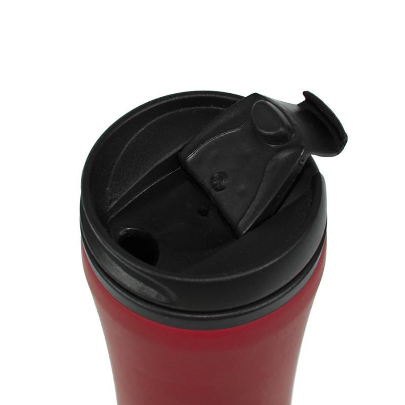 Термокружка FLOCK;  450 мл; красный; пластик/металл, Красный, -, 33100 08