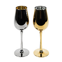 Набор бокалов для вина MOONSUN (2шт), серебристый, золотистый, , 26702