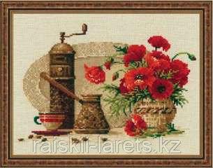 """Набор для вышивания крестом """"Кофе""""  1121"""
