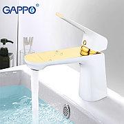 Смеситель для раковины Gappo Soviste G1080 белый/золото